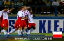Emmanuel Olisadebe kończy 39 lat. W ten sposób zdobył swojego pierwszego gola dla reprezentacji Polski [WIDEO]