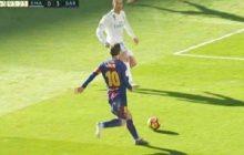 To zagranie przejdzie do historii piłki nożnej. Leo Messi ośmieszył Cristiano Ronaldo i zaliczył asystę przy golu grając... bez jednego buta [WIDEO]