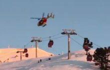 No to mieli Wigilię... 200 narciarzy utknęło w gondolach na wyciągu narciarskim. W akcję ratunkową zaangażowano dwa helikoptery [WIDEO]