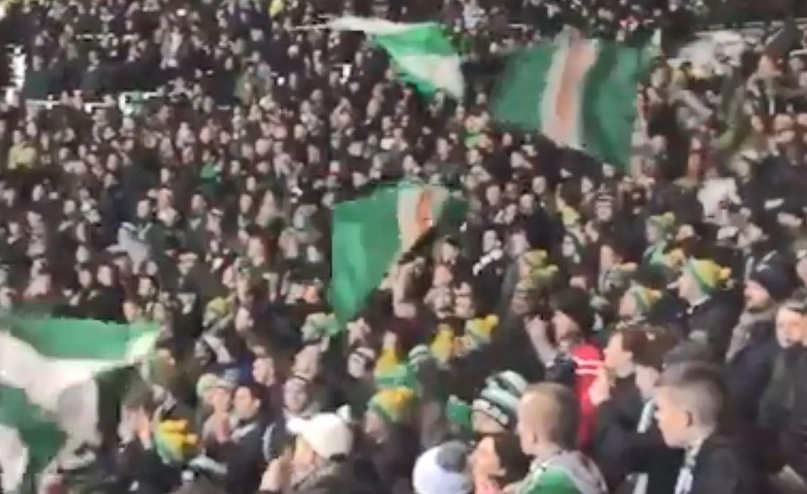 Oni są genialni! Kibice Celticu Glasgow podczas meczu ligowego w imponującym stylu odśpiewali świąteczny przebój [WIDEO]