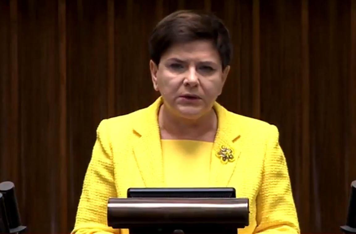 Beata Szydło ostra jak nigdy podczas wystąpienia w Sejmie.