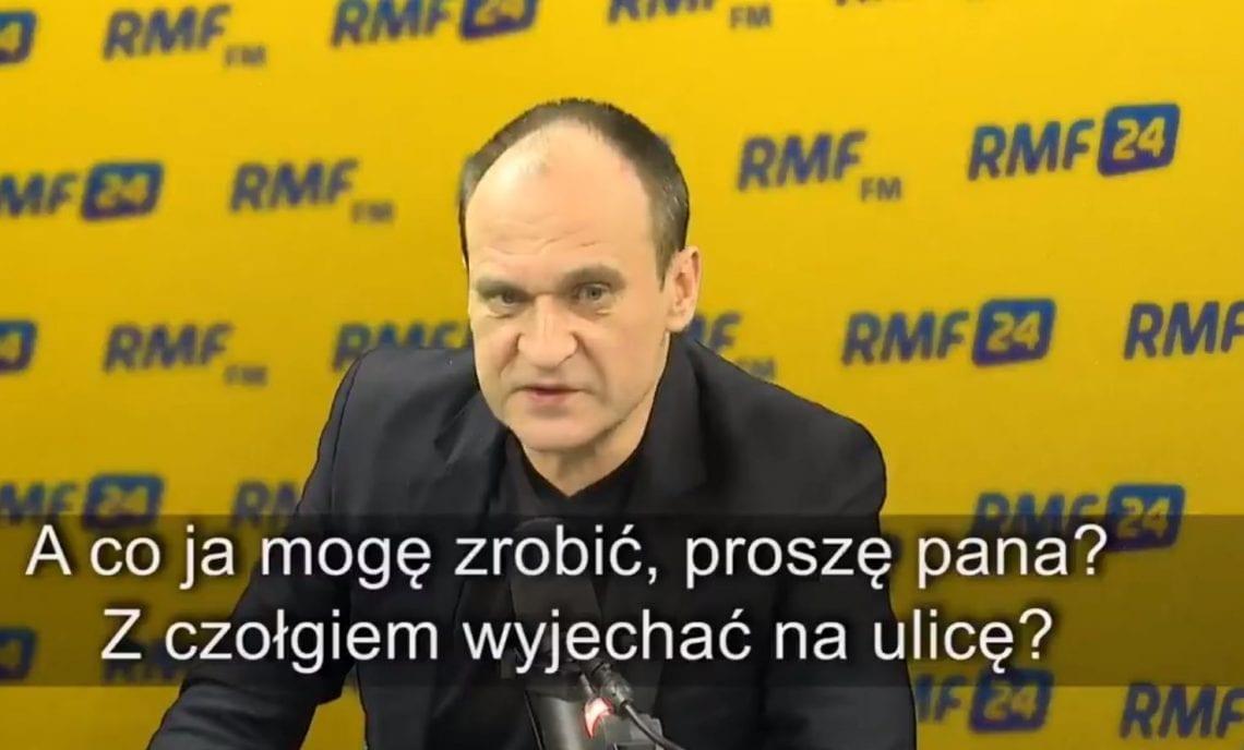 Zdenerwowany Paweł Kukiz na antenie RMF FM.
