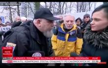 Skandaliczne słowa do reporterki TVP.