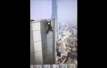Kamera zarejestrowała tragiczną śmierć kaskadera. Spadł z 62 piętra! Zbierał pieniądze na ślub i leczenie chorej matki [WIDEO]