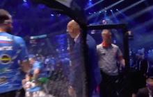Oświeciński wyzywa Szpilkę na pojedynek. W tym momencie bokser wchodzi do klatki i atakuje Stracha! [WIDEO]