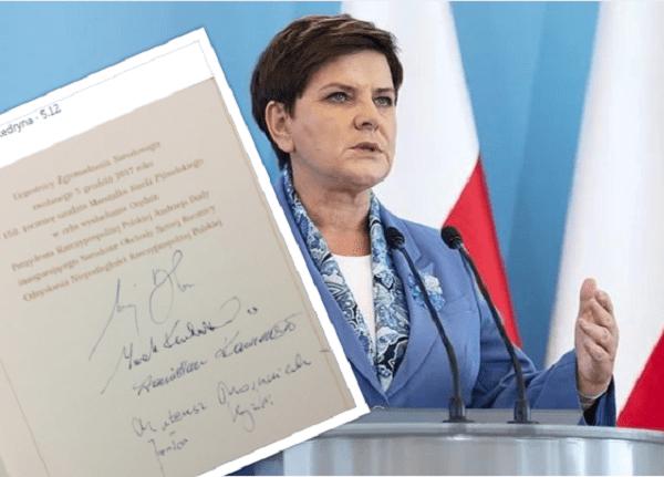 To zdjęcie mówi samo za siebie. Beata Szydło de facto nie jest już premierem? [FOTO]