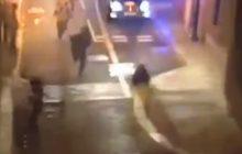 Złapali uciekającego przestępcę, bo... kobieta podstawiła mu nogę. Teraz jej szukają [WIDEO]