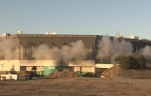Chcieli wyburzyć stadion, ale... coś poszło nie tak. Jest nagranie! [WIDEO]