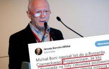 Michał Boni napisał list do polityka PiS. Korwin-Mikke uważa, że jeżeli ten odpowie... czekają go poważne konsekwencje.