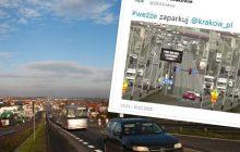 Taki ekran zobaczą kierowcy wjeżdżający do Krakowa.