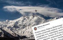 Premier Morawiecki komentuje wyprawę ratunkową na Nanga Parbat.