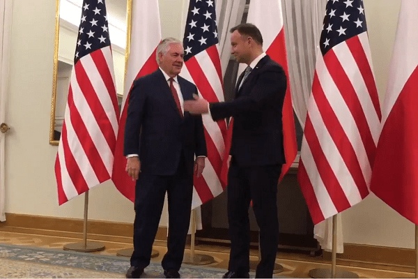 Andrzej Duda spotkał się z Rexem Tillersonem. O czym rozmawiali?