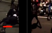 Przerażające nagrania z Francji! Tłum imigrantów skatował policjantkę [WIDEO]