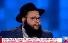Rabin Szalom Ber Stambler na antenie TVP Info ciepło wypowiadał się o Polakach. Na jedno pytanie odpowiedzieć jednak nie chciał [WIDEO]