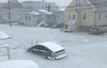Rekordowa zima w USA! Powódź zalała miasto i... zamarzła [WIDEO]