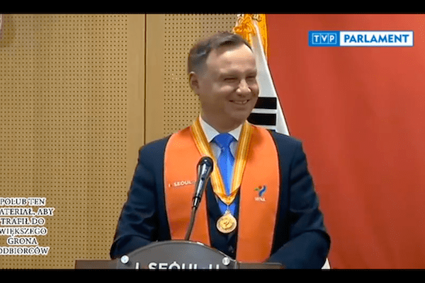 Ten żart prezydenta Andrzeja Dudy rozśmieszył Koreańczyków do łez! [WIDEO]