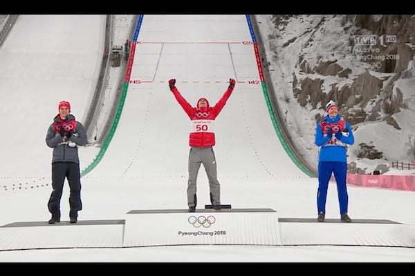 Kamil Stoch o ceremonii medalowej, świętowaniu złota i... hymnie zagranym przez Piotra Żyłę!