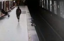 Mediolan: Dziecko wpadło na tory. Uratował je 18-latek [WIDEO]