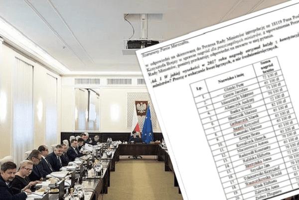 Znamy wysokość nagród przyznanych poszczególnym ministrom w 2017 roku. Mariusz Błaszczak otrzymał najwyższą kwotę