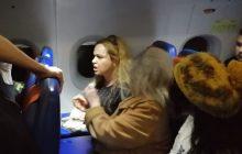 Awantura w samolocie.