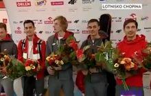 Polscy skoczkowie narciarscy już w Polsce! Na lotnisku czekało na nich powitanie [WIDEO]