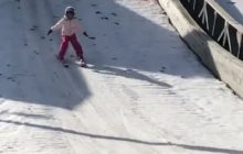 Córka Piotra Żyły też skacze na nartach! Justyna Żyła publikuje film ze skoczni [WIDEO]