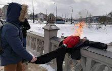 Działacze Młodzieży Wszechpolskiej topili Marzannę z wizerunkiem... Stepana Bandery! [FOTO]