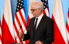 Szef polskiego MSZ o relacjach z USA: Atmosfera nie jest najlepsza