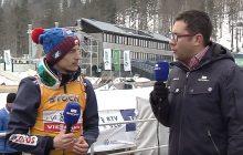 Fantastyczny gest trenera Norwegów wobec Kamila Stocha. Specjalnie poczekał aż skoczek skończy wywiad! [FOTO]