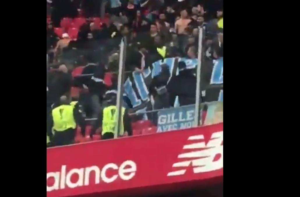 Zamieszki podczas meczu Ligi Europy w Bilbao. Ranni dwaj ochroniarze