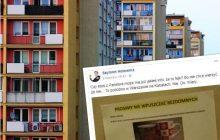 Warszawa: Wpuścił bezdomnego na klatkę schodową, żeby nie zamarzł. Sąsiedzi żądają przeprosin [FOTO]