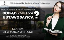 XII Ogólnopolska Konferencja Prawa Podatkowego