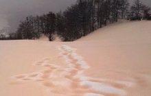 We Włoszech spadł... pomarańczowy śnieg. Wszystko przez piasek z Sahary