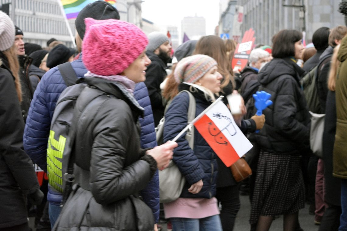 """Podczas """"Czarnego Protestu"""" sprofanowano znak Polski Walczącej [FOTO]"""