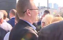 Nietypowa sytuacja podczas przemówienia Andrzeja Dudy. Wnuk Anny Walentynowicz... obrócił się do prezydenta plecami [WIDEO]