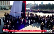 Pomink ofiar katastrofy smoleńskiej odsłonięty. Poruszający moment uwieczniony na nagraniu! [WIDEO]