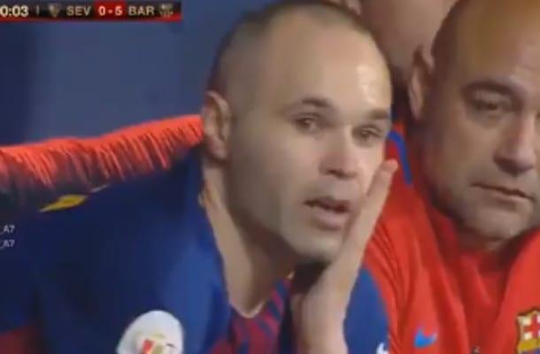 Barcelona zdobyła Puchar Króla, ale największe wrażenie zrobiło pożegnanie Andresa Iniesty [WIDEO]