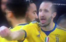O tym geście gracza Juventusu rozpisują się internauci. Co sugerował włoski piłkarz? [WIDEO]