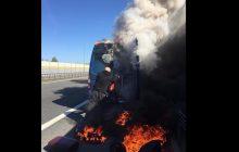 Poważny wypadek polskiego zespołu. Ich bus stanął w płomieniach [FOTO]