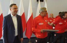 Andrzej Duda spotkał się z polskimi piłkarzami. Na miejscu fotograf uwiecznił kapitalną scenę.