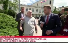 Lech Wałęsa starł się z dziennikarzem TVP Info.