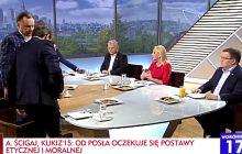 Awantura w TVP Info! Trzej politycy opuścili studio, po tym, gdy Rachoń ogłosił, że w mieszkaniu posła PO świadczone są usługi seksualne [WIDEO]