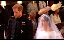 Co powiedział książę Harry do Meghan Markle, gdy zobaczył ją w sukni? Wszystko wychwyciła kamera!