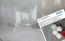 Tragiczne skutki burz w Polsce. Grad wielkości korka od butelki! [FOTO+WIDEO]