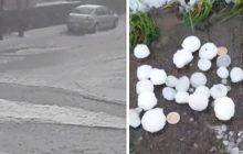 Zgierz: Mieszkańcy myśleli, że to kataklizm. Potężna nawałnica i grad wielkości piłek do ping ponga! [WIDEO]