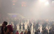 Chwile grozy na warszawskim Torwarze. Ewakuacja podczas koncertu Marylina Mansona! [WIDEO]