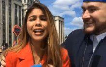 Reporterka zdawała relację z mundialu, nagle przed kamerę wparował kibic.