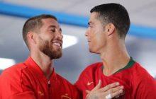Mistrzostwa Świata: Sergio Ramos na treningu parodiował Cristiano Ronaldo. Chodzi o rzut karny z meczu Portugalia-Hiszpania [WIDEO]
