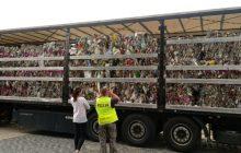 Zatrzymano nielegalny transport śmieci. Ciężarówka jechała z Niemiec
