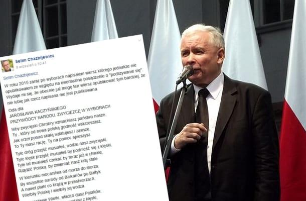 Napisał Odę Do Jarosława Kaczyńskiego O Jarosławie
